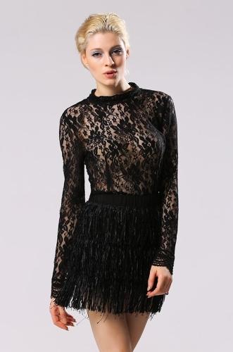 Nuevo estilo de la señora de las mujeres de la borla de la falda de la falda de múltiples capas informal