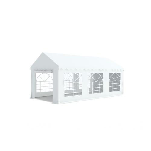 Tente de réception 5x6m PVC 480g/m2 ignifugé M2 oeillets inox tube 38mm