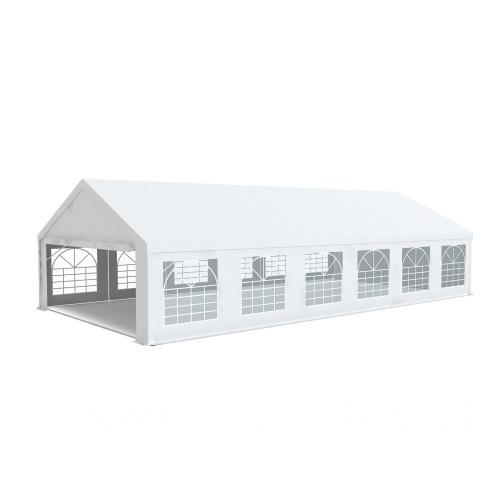 Partyzelt Premium 6x12 PVC 500g/m² - Stahlrohren 50mm mit Edelstahl-Ösen
