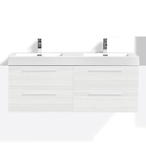 Double vasque marbre artificiel