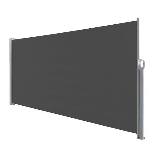 Paravent rétractable brise vue latéral 300x200cm Polyester 180g/m² imperméable