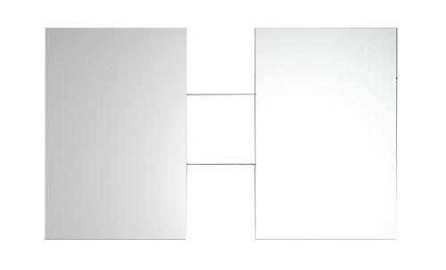 2 Miroirs 600 x 900 mm et 2 étagères 250 mm - Noir Brillant