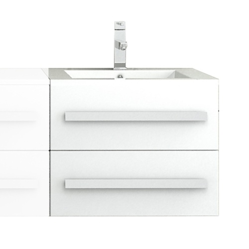 Meuble salle de bain avec vasque - Blanc