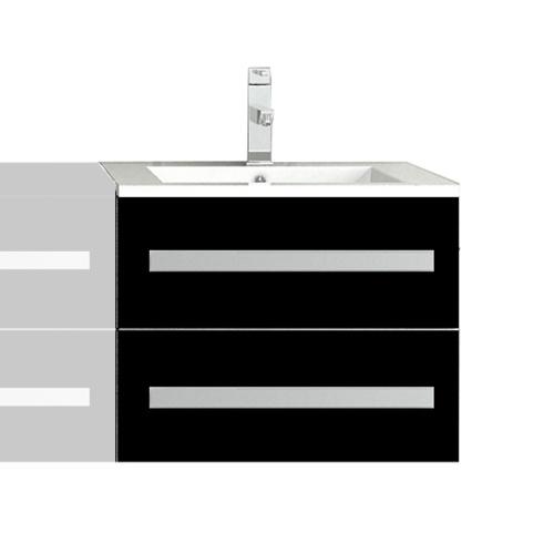 Meuble salle de bain avec vasque - Noir
