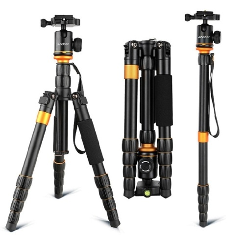 Andoer camera Tripod, Monopod Carbon Fiber Tripod  for SLR Camera DSLR Camcorder with ball Head and a Carry Bag