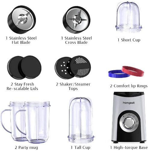 Homgeek Mini Blender&Blender Smoothie