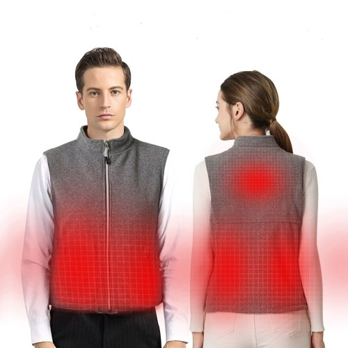 Unisex Heated Vest USB Charging Electric Warm Vests Heated Jacket Washable for Outdoor Motorcycle Riding Hunting