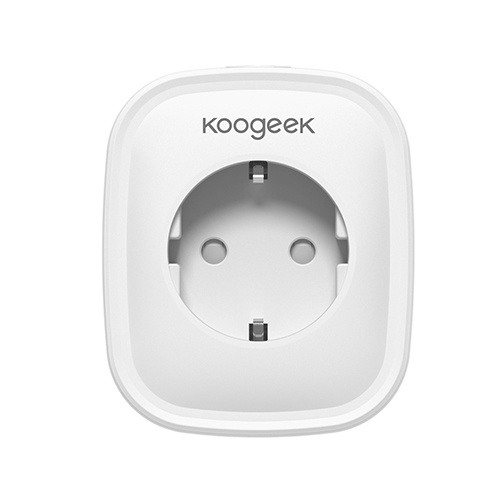 Koogeek Wi-Fi Enabled Smart Plug Compatible with Alexa and Google Assistant Remote Control EU Plug 1 pack  from Anywhere Voice Control Timer /No Hub Required / AC220V CE/ and RoHs Listed / White / we will dispatch the corresponding plug according to your country