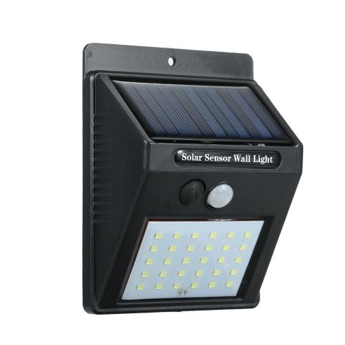 30 светодиодов солнечной энергии PIR датчик движения настенный светильник