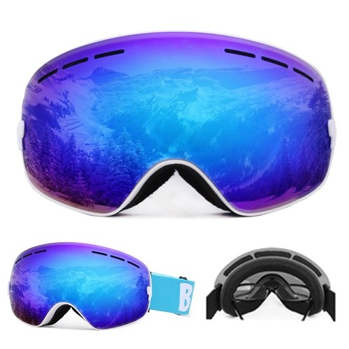 Docooler Ski Goggles Snowboard Skate UV Protection Anti-fog with Wide Spherical Lens for Men Women
