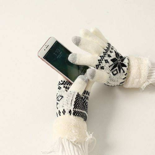 New autumn and winter plus velvet warm gloves