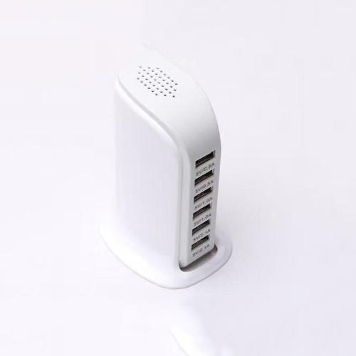 6-портовый USB-штекер для шлюпки 5-портовая зарядная станция для мобильного телефона 5V6A Многопортовое зарядное USB-зарядное устройство Black beauty