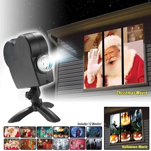 40W 12 Films Fenêtre Projecteur Lumière Mise Au Point Réglable Objectif Atmosphère Lampe