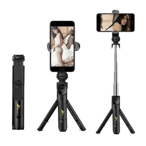 Новый мобильный телефон XT09 Bluetooth-палка для селфи со штативом Универсальный многофункциональный XT10 с поддержкой видео в реальном времени XT10 Selfie Stick-Black