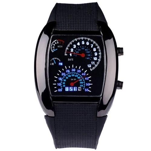 Fashionable Stylish Unique LED Luminous Digital Sport Men Watch Wristwatch for Men