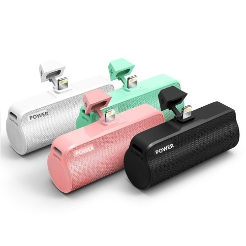 Мини-карман зарядки сокровище портативный быстрая зарядка мини-мобильный телефон мобильного питания портативный встроенный беспроводной источник питания оптом Белый