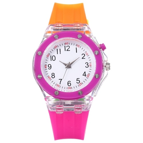 AliExpress 2019 latest explosion models luminous silicone watch