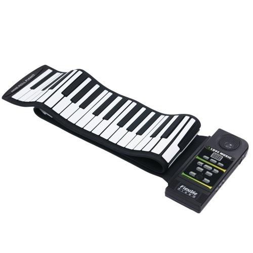 KONIX Piano roulé à la main Piano électronique pliant en silicone épaissi à 88 touches avec pédale de sustain