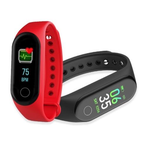 M4 Intelligent Watch Color Screen Sports BT Wrist Watch Waterproof Blood Pressure Heart Rate Monitoring Fitness Watch