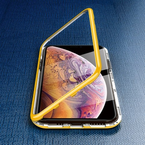 7 / XSMAX Mobile Shell Macaron lange König iphone11 Glas Shell PC Anti-Fall-Set