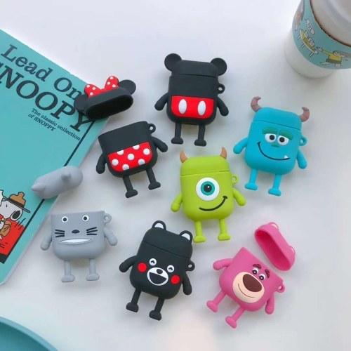 Anwendbar Apple AirPods Minnie Bluetooth Headset Set Mickey Cute Stereo Silikonhülle für weibliche Kumamoto