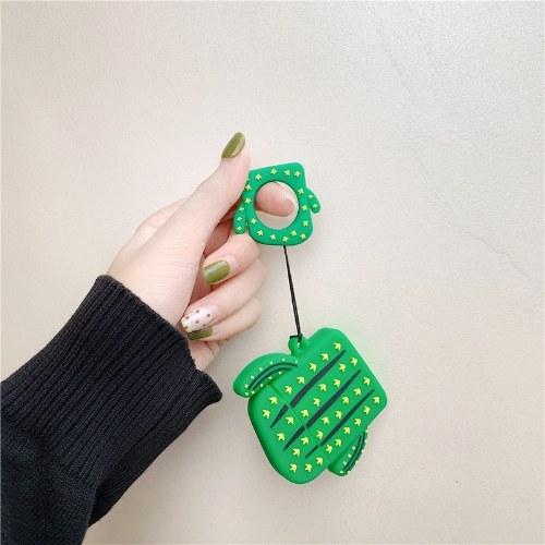 Kreative airpods kopfhörer sets für apple drahtlose bluetooth hülle silikon kaktus karotte weibliche 2 [kaktus lanyard]