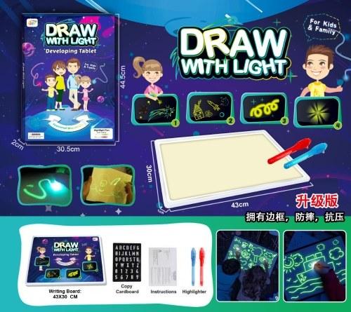 Tableau de peinture fluorescent Draw With Light Fun