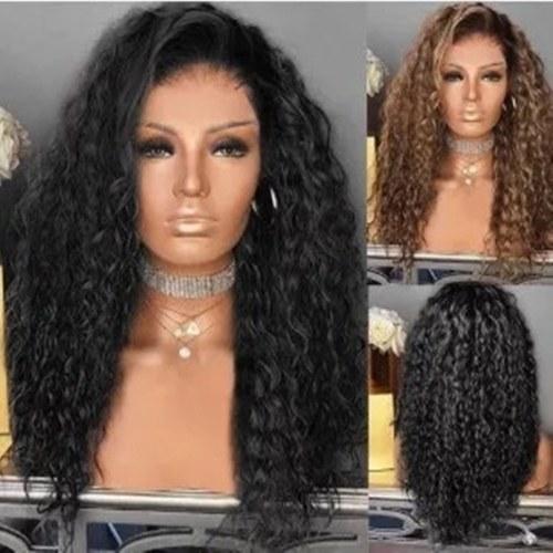 Африканский маленький вьющийся парик женская мода длинные вьющиеся волосы европейский и американский цент длинные вьющиеся волосы маленькая волна микро вьющиеся волосы черный