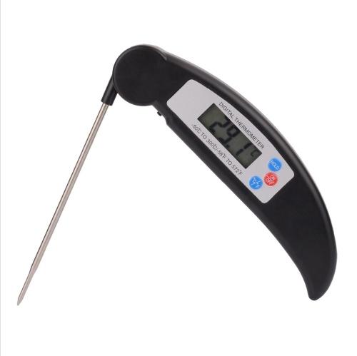 Thermomètre alimentaire à sonde pliable en acier inoxydable