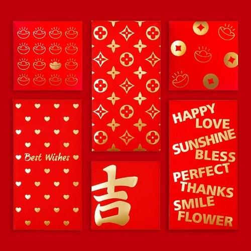 Envelopes vermelhos de 10 peças de ano novo chinês