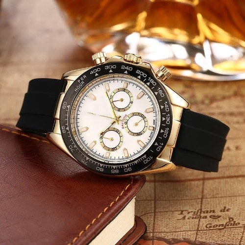 Foreign trade new hot style Lao brand watch six-pin working fashion men's watch fast selling source of micro-business can be issued on behalf of 08