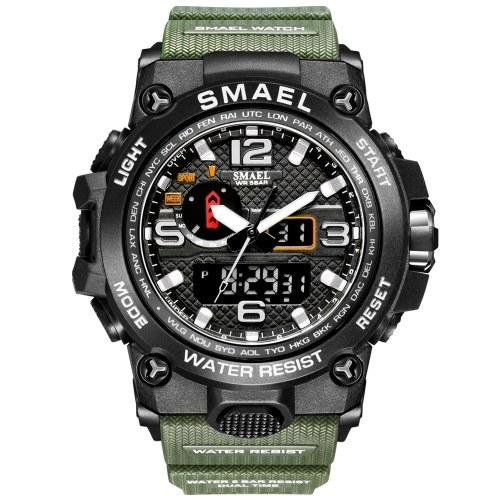 SMAEL nuovo orologio sportivo di moda autentico orologio elettronico multifunzionale da uomo impermeabile all'ingrosso GAJ0302 Argento nero GAJ0302