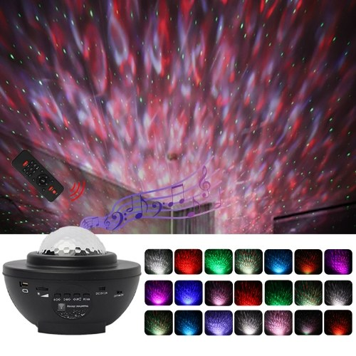 Starry Sky Projector Lamp USB Music Red and Green Laser Star Water Pattern Light Atmosphere Lamp
