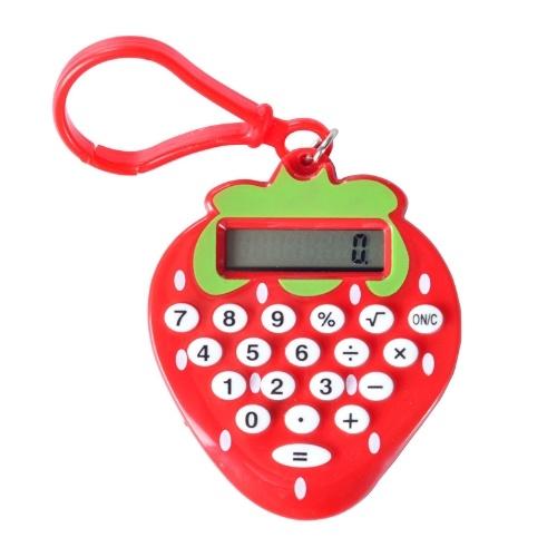 Calculator Electronic 8-Digit Cartoon Strawberry Compact