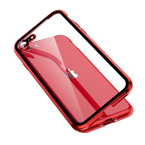 Geeignet für Apple SE2 und andere komplette Serien doppelseitiger hochauflösender explosionsgeschützter magnetischer Schutzhüllen aus magnetischem Mobiltelefon aus Glasmetall 色 schwarz Doppelseitiger HD Apple xMAX
