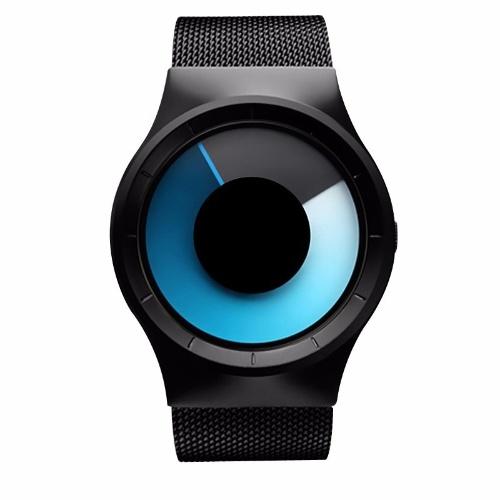 GEEKTHINK AliExpress Amazon eBay modelli di esplosione del commercio estero cool orologio cinturino in acciaio neutro all'ingrosso 6002 Argento superficie rotante rossa