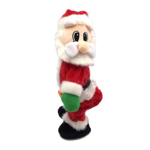 Sali la scala, sali la tenda di perline, Babbo Natale che scuote i fianchi, giocattoli di Natale, vestiti di Natale, regali di Natale elettrici di culo torcente Babbo Natale tremante