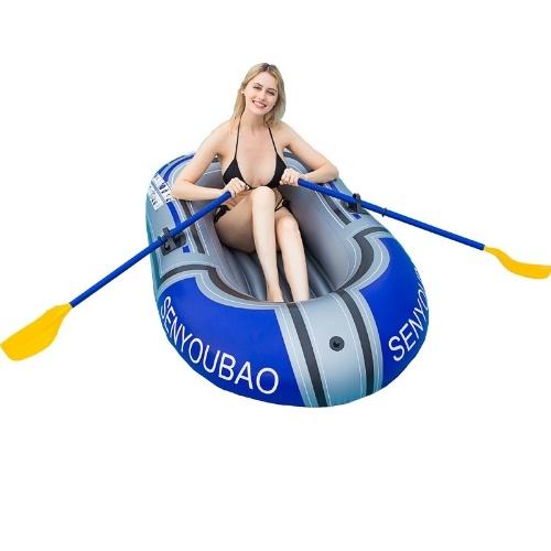 Новый стиль, ПВХ материал, каноэ и каяк, резиновая шлюпка, утолщенная складная надувная рыболовная лодка, 150 см (одиночная лодка без весла)