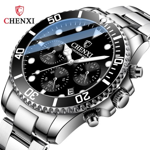 Dawn vibrato net celebrity multi-function sports watch men's luminous green water ghost quartz non-mechanical watch black