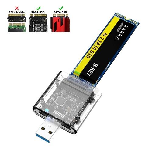 Корпус твердотельного накопителя USB3.0 Gen1 SATA Корпус SSD M.2 NGFF Портативный корпус жесткого диска Поддержка SATA B-KEY M.2 SSD Синий