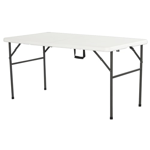 table pliante 152cmx76cmx74cm blanc. Black Bedroom Furniture Sets. Home Design Ideas