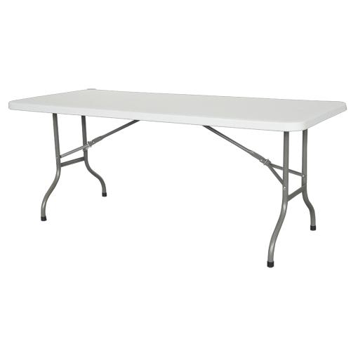 Premium Tisch 180cm weiß mit zusammenklappbaren Füßen - für profi-veranstaltungen