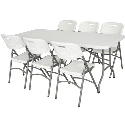 Premium Klappbar Tisch Tragbar Schreibtisch mit 183cm Durchmesser für Garten Outdoor Picknick Reisen