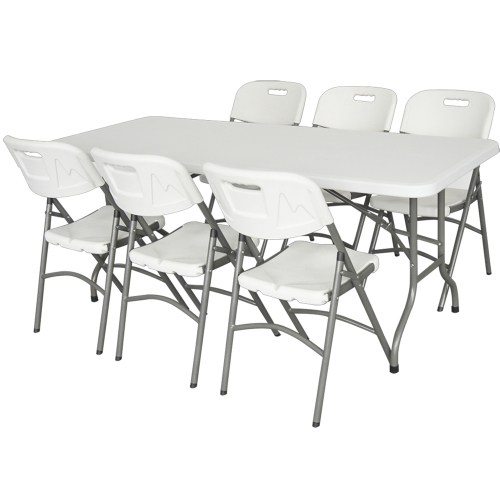 Premium Foldable Table Portable Desk with 183cm Diameter for Garden Outdoor Picnic Travel