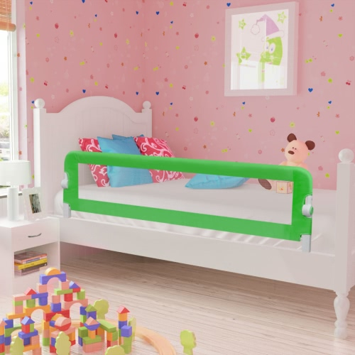 Safety Barrier for Baby Bed 150 x 42 cm Green
