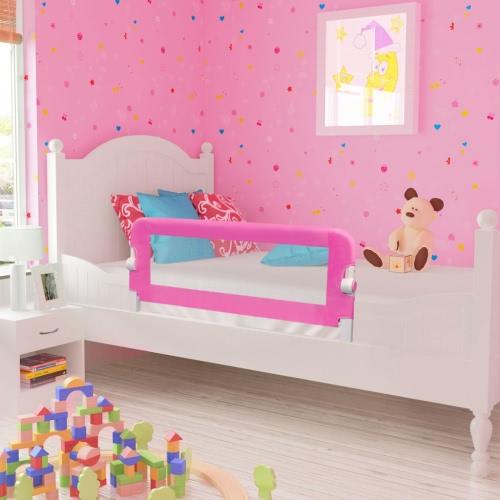 Barandilla de seguridad infantil para la cama, color rosa 102 x 42 cm