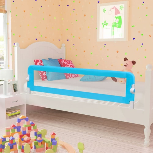 Safety Barrier for Baby Bed 150 x 42 cm Blue