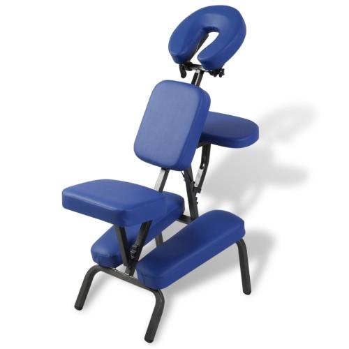 sillón de masaje, plegable y portátil azul