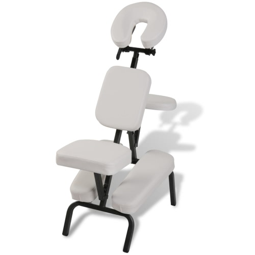 sillón de masaje, plegable y portátil blanca