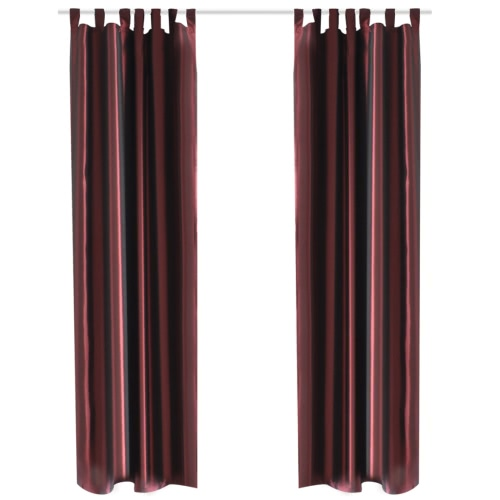Bordeaux Taffeta Curtain 140 x 245 cm 2 pcs